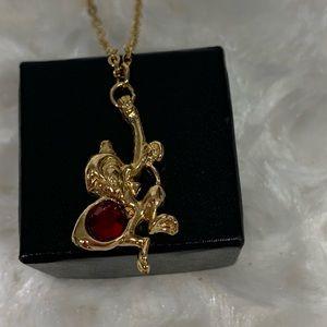 "Abu Monkey Disney Aladdin 16""Chain  Gold tone"